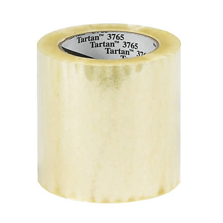 """3M™ Tartan™ 3765 Label Protection Tape, 4"""" x 145 Yd., Clear, Case Of 12"""