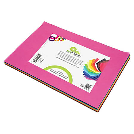 "Smart-Fab Disposable Fabric Color Sheets, 9"" x 12"", Assorted Colors, Pack Of 270"