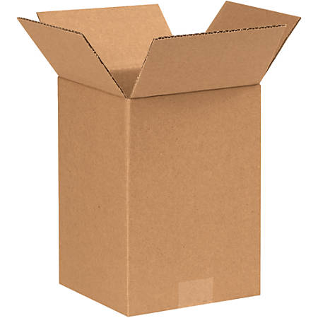 """Office Depot® Brand Corrugated Boxes, 9""""H x 7""""W x 7""""D, 15% Recycled, Kraft, Bundle Of 25"""