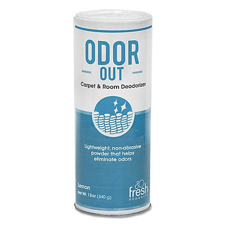 Fresh Products Odor-Out Rug And Room Deodorant, Lemon Scent, 12 Oz, Pack Of 12 Cans