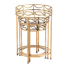 Zuo Modern Side Tables Round Gold