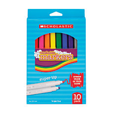 Scholastic Art Markers Beveled Tip Assorted