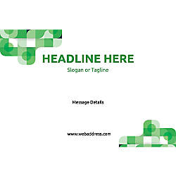 Adhesive Sign Green Abstract Horizontal