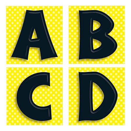 Carson-Dellosa Quick Stick® Letters, Black, Pack Of 45