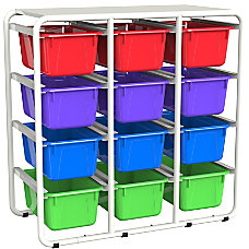 Storex Storage Rack With 12 Cubby