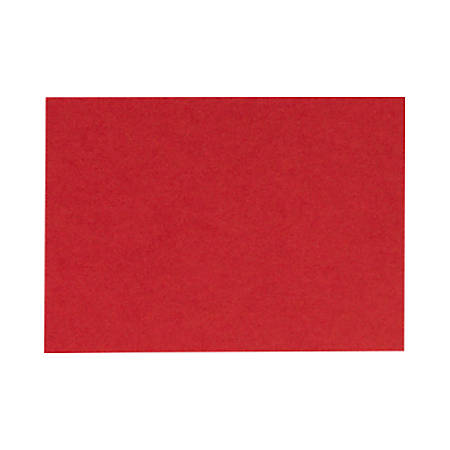 "LUX Flat Cards, A9, 5 1/2"" x 8 1/2"", Ruby Red, Pack Of 250"