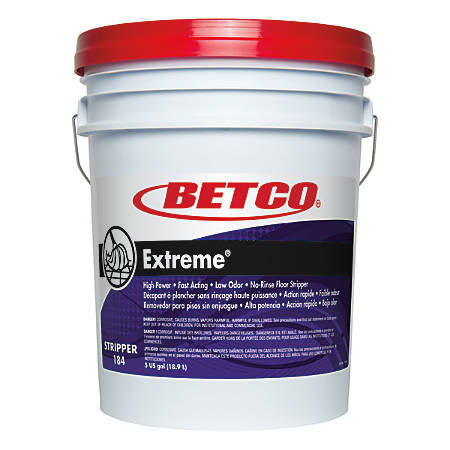 Betco® Extreme Liquid Floor Stripper, Lemon Scent, 5 Gallon Pail