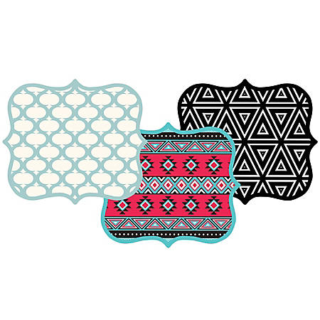 Fellowes® Designer Mouse Pad, 50% Recycled, Teal Lattice