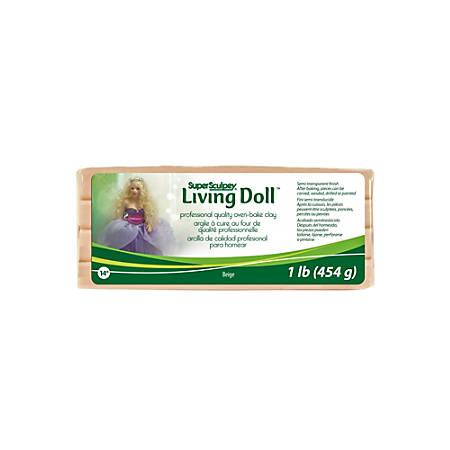 Sculpey Living Doll Modeling Compound, 1 Lb, Beige