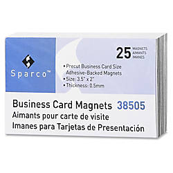 Sparco 38505 Business Card Magnets Rectangle