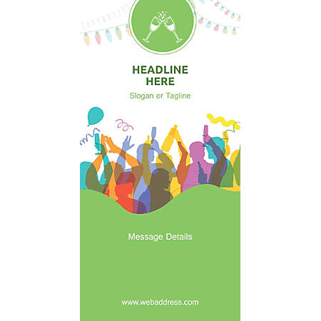 Custom Vertical Display Banner, Party Time