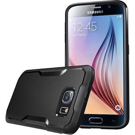 Supcase Galaxy S6 Unicorn Beetle Hybrid Protective Bumper Case - For Smartphone - Black - Semi Matte, Smooth - Shock Absorbing - Thermoplastic Polyurethane (TPU), Polycarbonate