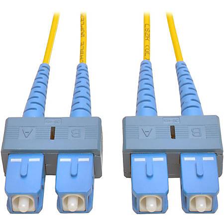 Tripp Lite 10M Duplex Singlemode 8.3/125 Fiber Optic Patch Cable SC/SC 33' 33ft 10 Meter - SC Male - SC Male - 32.81ft - Yellow