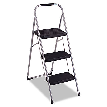 Cosco Ultra Thin 3 Step Ladder 200 Lb Capacity 52 34