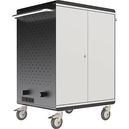 """Balt™ A La Cart Tablet Security & Charging Cart, 36 3/4""""H x 31 3/4""""W x 20 1/8""""D, Charcoal"""
