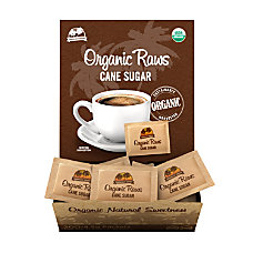 Organic Raws Cane Sugar Packets