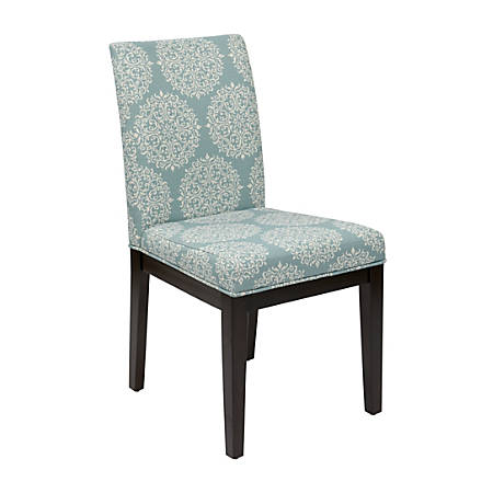 Ave Six Dakota Parsons Chair, Gabrielle Sky/Dark Brown