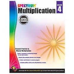 Carson Dellosa Spectrum Math Workbook Multiplication