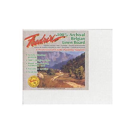"""Fredrix Archival Linen Canvas Board, 8"""" x 10"""", Pack Of 2"""
