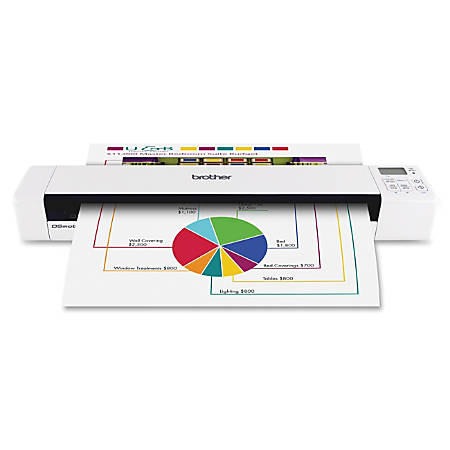 Brother ds 820w wireless mobile scanner by office depot for Brother ds 820w wireless mobile color page scanner
