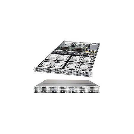 Supermicro SuperServer 6018R-TD8 Barebone System - 1U Rack-mountable - Intel C612 Express Chipset - Socket LGA 2011-v3 - 2 x Processor Support - Black