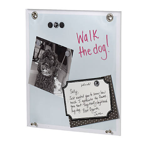 "See Jane Work® Dry-Erase Magnetic Panel, 12""H x 9/10""W x 12""D, White"