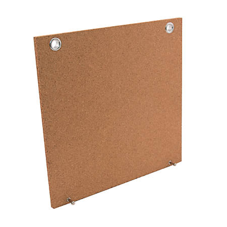 "See Jane Work® Corkboard Panel, 12""H x 1 3/16""W x 12""D, Tan"