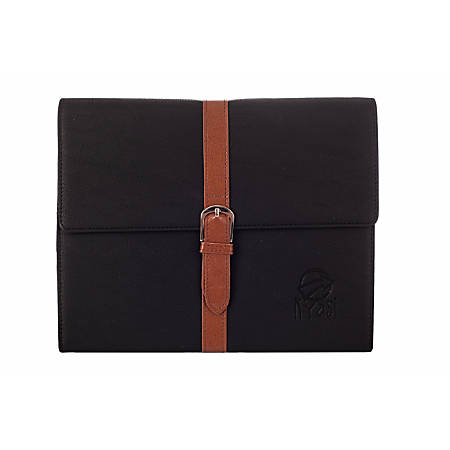 Kyasi Belt Buckle Folio Case And Stand For Apple® iPad® 2, iPad® 3rd Generation And iPad® With Retina Display, Black