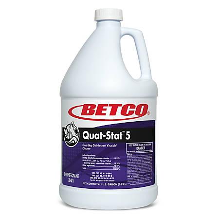 Betco® Quat-Stat 5 Disinfectant, Lavender, 140 Oz, Case Of 4