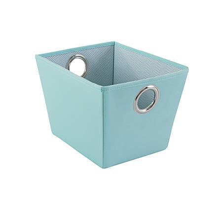 "See Jane Work® Decorative Storage, Small Fabric Bin, 7"" x 8"" x 9 3/4"", Blue"