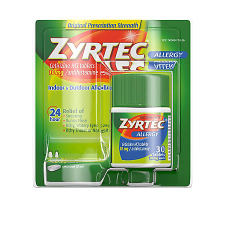 Zyrtec® Allergy Tablets, Box Of 30
