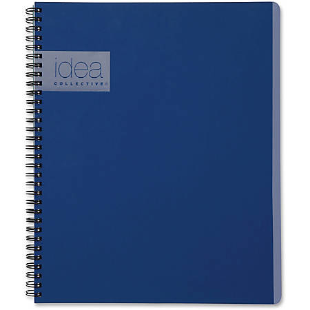 "TOPS Idea Collective Action Notebook - Twin Wirebound - College Ruled - 8 3/4"" x 11"" - Blue Cover - 1Each"