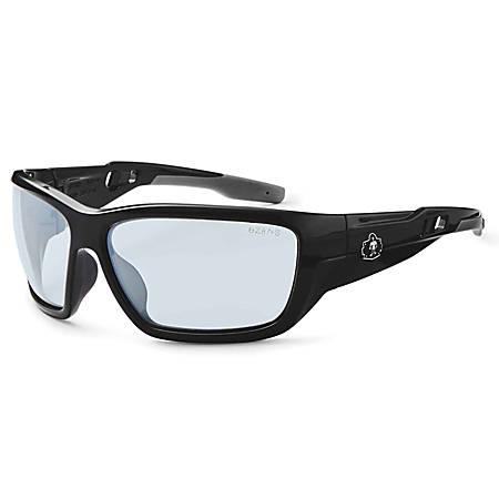 Ergodyne Skullerz® Safety Glasses, Baldr, Anti-Fog, Black Frame, Indoor/Outdoor Lens