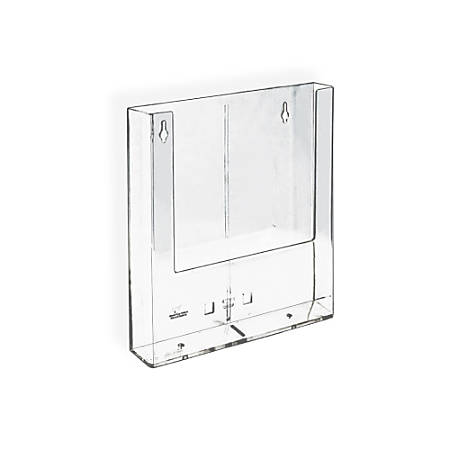 "Azar Displays Wall-Mount Brochure Holders, Trifold, 1 Pocket, 6 1/4""H x 4""W x 1 1/2""D, Pack Of 10"