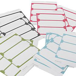See Jane Work® Permanent Self-Adhesive Labels, 36591, Rectangular Die-Cut, Assorted Colors, Pack Of 72