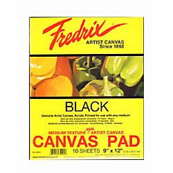 Fredrix Black Canvas Pads 9 x