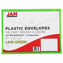 JAM Paper Plastic Booklet Expansion Envelopes