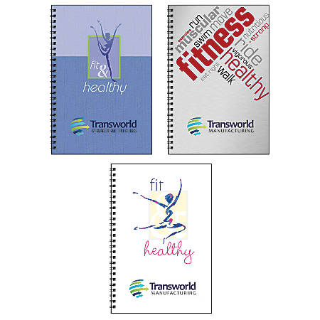 """Food And Fitness Journal Book, 6"""" x 9"""", 50 Sheets"""