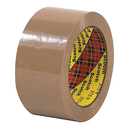 """3M® 375 Carton Sealing Tape, 2"""" x 55 Yd., Tan, Case Of 36"""
