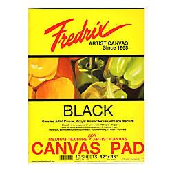 Fredrix Black Canvas Pad 12 x