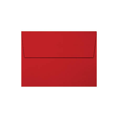 """LUX Invitation Envelopes With Moisture Closure, A6, 4 3/4"""" x 6 1/2"""", Holiday Red, Pack Of 250"""