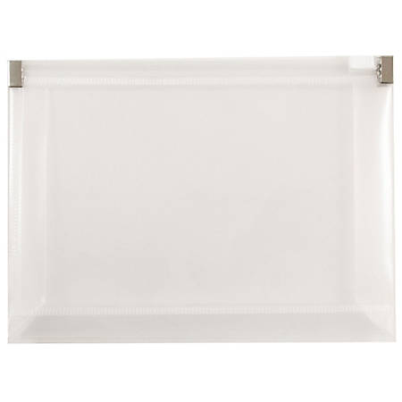"JAM Paper® Plastic Envelopes, 4 1/2"" x 6 1/2"", Clear, Pack Of 12"