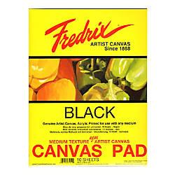 Fredrix Black Canvas Pad 16 x