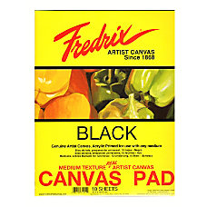Fredrix Black Canvas Pad 16 x