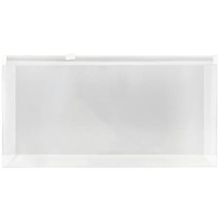 "JAM Paper® Plastic Envelopes, 4 3/4"" x 9 1/2"", Clear, Pack Of 12"
