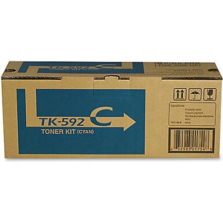 Kyocera TK-592C Original Toner Cartridge - Laser - 5000 Pages - Cyan - 1 Each