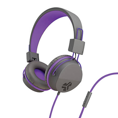 JLab Audio Intro Over-The-Ear Headphones, Purple, HINTRORPRPL4