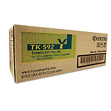 Kyocera TK 592Y Original Toner Cartridge