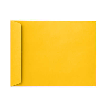 "LUX Open-End Envelopes With Peel & Press Closure, #9 1/2, 9"" x 12"", Sunflower Yellow, Pack Of 250"