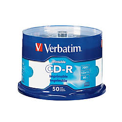 Verbatim CD R Printable Disc Spindle